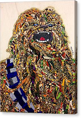 Canvas Print featuring the tapestry - textile Chewbacca Star Wars Awakens Afrofuturist Collection by Apanaki Temitayo M