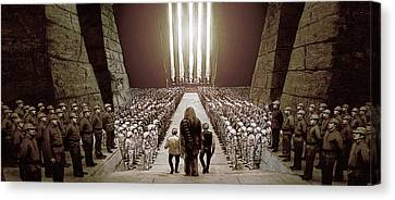 Chewbacca's March To Disappointment Canvas Print by Kurt Ramschissel