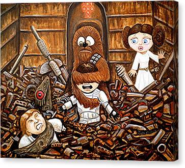 Chewie Get Off My Me You Big Furry Oaf Canvas Print by Al  Molina
