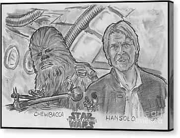 Chewie Were Home Canvas Print by Chris  DelVecchio