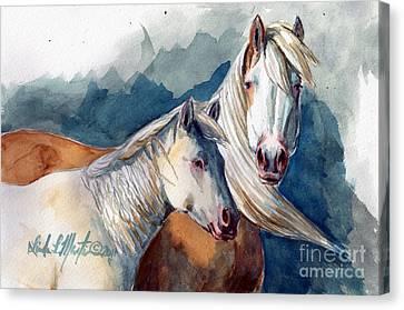 Cheyenne And Tripod Canvas Print by Linda L Martin