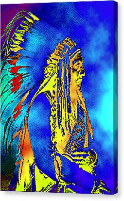 Cheyenne Chief Canvas Print by Ben Freeman