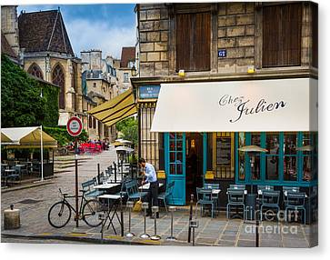 Awning Canvas Print - Chez Julien by Inge Johnsson