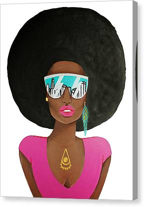Chi Town Diva Canvas Print by Allison Liffman