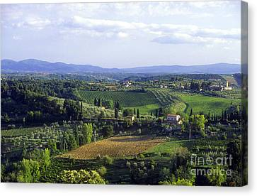 Chianti Region In Italy Canvas Print by Gregory Ochocki and Photo Researchers
