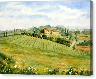 Chianti Villa Canvas Print