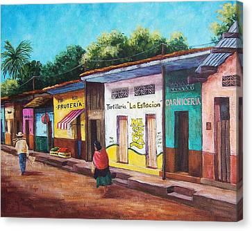 Chiapas Neighborhood Canvas Print by Candy Mayer