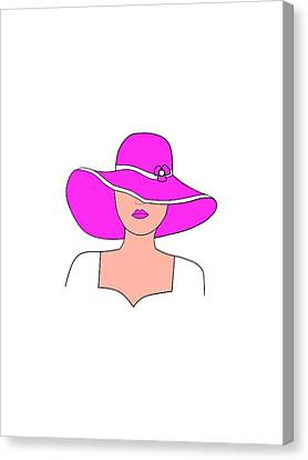 Dressing Room Canvas Print - Chic Fashion by Kathleen Sartoris