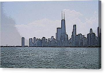 Chicago Across Lake Michigan Canvas Print