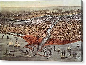 Chicago As It Was Canvas Print by Currier and Ives