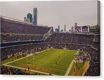 Walter Payton Canvas Print - Chicago Bears Soldier Field 7759 by David Haskett