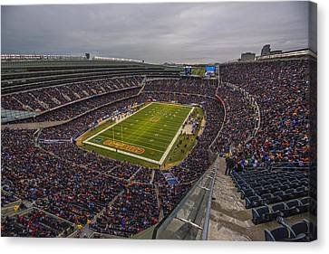 Walter Payton Canvas Print - Chicago Bears Soldier Field 7790 by David Haskett