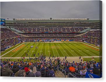 Walter Payton Canvas Print - Chicago Bears Soldier Field 7818 by David Haskett
