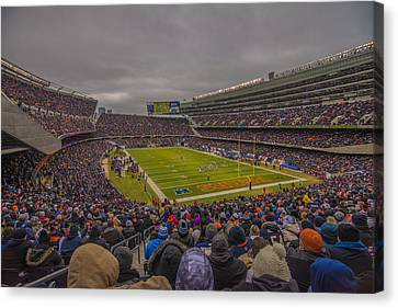 Walter Payton Canvas Print - Chicago Bears Soldier Field 7837 by David Haskett
