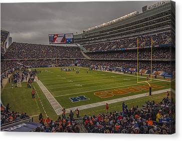 Walter Payton Canvas Print - Chicago Bears Soldier Field 7848 by David Haskett