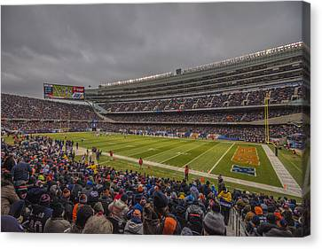 Walter Payton Canvas Print - Chicago Bears Soldier Field 7858 by David Haskett