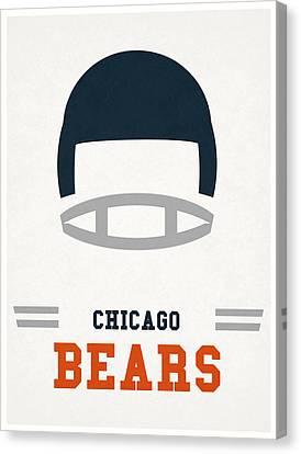 Chicago Bears Vintage Art Canvas Print by Joe Hamilton
