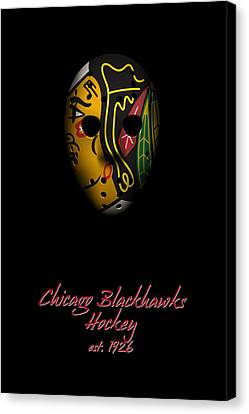 Goalie Canvas Print - Chicago Blackhawks Established by Joe Hamilton