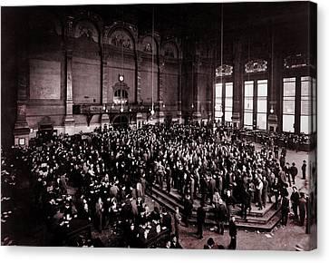 Chicago Board Of Trade 1900 Canvas Print by Daniel Hagerman