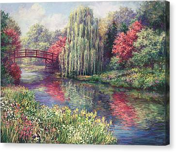 Chicago Botanical Garden Canvas Print by Laurie Hein