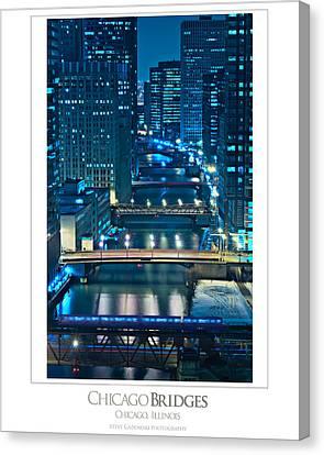 Chicago Bridges Poster Canvas Print by Steve Gadomski