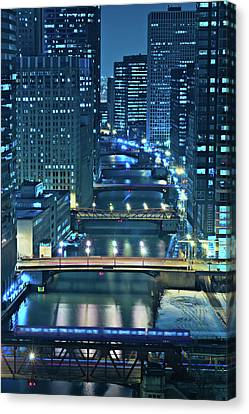 Architecture Canvas Print - Chicago Bridges by Steve Gadomski