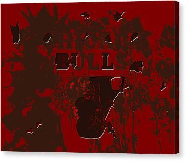 Utah Jazz Canvas Print - Chicago Bulls 1b by Brian Reaves
