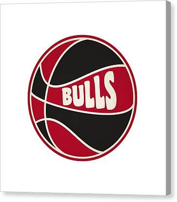 Chicago Bulls Retro Shirt Canvas Print by Joe Hamilton