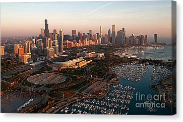 Chicago By Air Canvas Print by Jeff Lewis