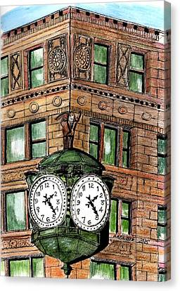 Chicago Clock Canvas Print