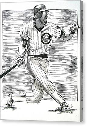 Chicago Cub Leon Durham Canvas Print