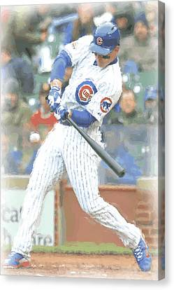 Chicago Cubs Anthony Rizzo Canvas Print by Joe Hamilton