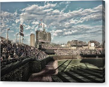 Chicago Cubs Original Scoreboard 05 Canvas Print by Thomas Woolworth