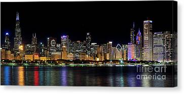 Chicago Cubs Skyline Canvas Print by Jeff Lewis