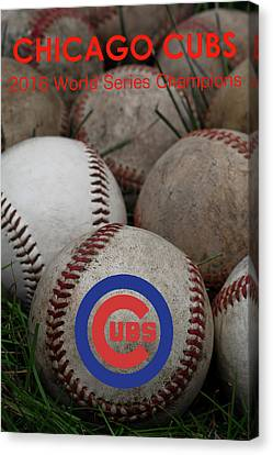 Chicago Cubs World Series Poster Canvas Print by David Patterson