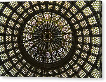 Chicago Cultural Center Tiffany Dome 03 Canvas Print by Thomas Woolworth