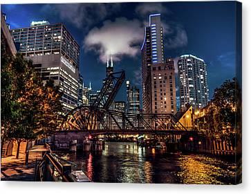 Chicago Canvas Print - Chicago Dark Knight by Adam Oles