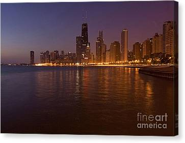 Chicago Dawn Canvas Print by Sven Brogren