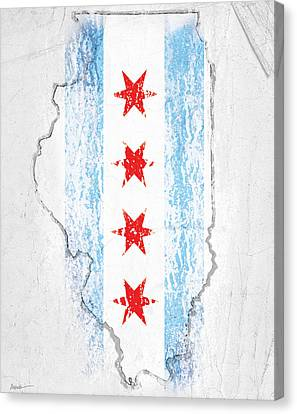 Chicago Flag Canvas Print by Roly Orihuela