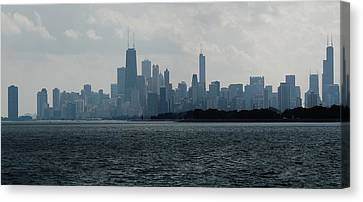 Chicago From Belmont Harbor Canvas Print by Todd Sherlock