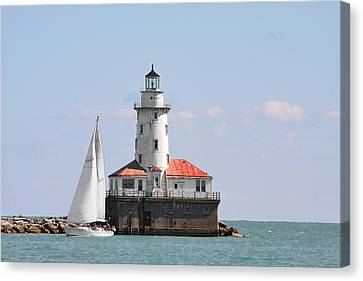 Chicago Harbor Lighthouse Canvas Print by Christine Till