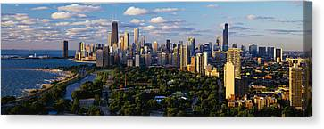 Lincoln Park Lagoon Canvas Print - Chicago Il by Panoramic Images