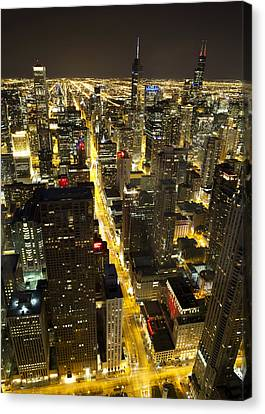 Canvas Print featuring the photograph Chicago Is Always Alive by Shawn Everhart