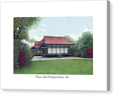 Chicago - Japanese Tea Houses - Jackson Park - 1912 Canvas Print