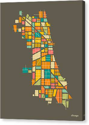 Chicago Canvas Print by Jazzberry Blue