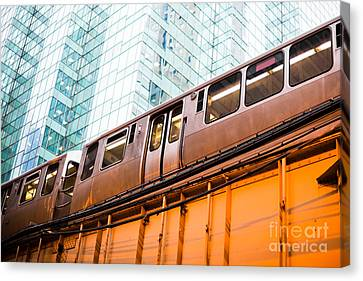 Chicago L Elevated Train  Canvas Print by Paul Velgos