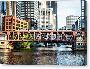 Chicago Lake Street Bridge L Train Canvas Print by Paul Velgos