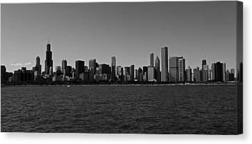 Chicago Lakeshore Skyline Canvas Print by Miranda  Miranda