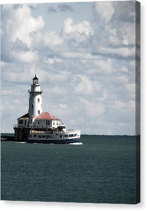 Chicago Lighthouse Canvas Print by Joanne Coyle