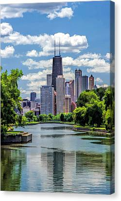 Lincoln Park Lagoon Canvas Print - Chicago Lincoln Park Lagoon by Christopher Arndt
